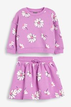 Daisy Print Skirt And Sweater Top Co-Ord (3mths-7yrs)