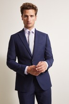 Moss 1851 Tailored Fit Navy Prince Wales Of Check Jacket