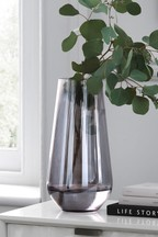Large Smoke Glass Vase