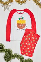 Personalised Women's Pudding Christmas Pyjamas