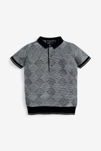 Argyle Pattern Knitted Polo (3-16yrs)