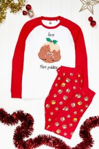 Personalised Men's Pudding Christmas Pyjamas