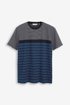 Mercerised Cotton Stripe T-Shirt