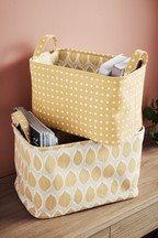Set of 2 Reversible Storage Baskets