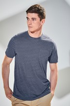 Stripe Linen Mix T-Shirt