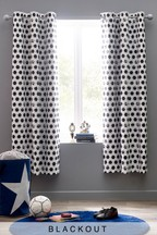 Football Crazy Eyelet Curtains