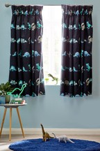 Geometric Dinosaur Curtains