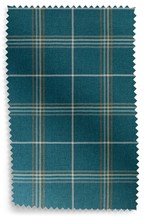 Camden Herringbone Check Eyelet Curtains fabric Sample