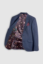 Signature British Fabric Herringbone Slim Fit Moons Blazer