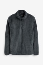 Fleece Zip Neck Top