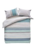 2 Pack Mini Geo Stripe Duvet Cover and Pillowcase Set