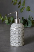 Embossed Floral Soap Dispenser