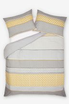 2 Pack Mini Geo Stripe Duvet Cover and Pillowcase Set