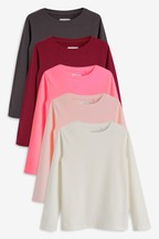 5 Pack Long Sleeve T-Shirts (3-16yrs)