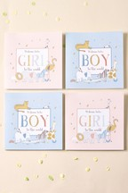 4 Pack Baby Boy And Baby Girl Multi Pack Card Set