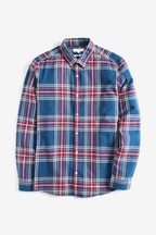 Large Scale Check Flannel Slim Fit Shirt