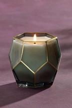 Green Emerald Faceted Candle