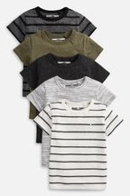 Textured T-Shirts Five Pack (3mths-7yrs)