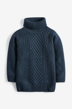 High Neck Cable Jumper (3-16yrs)