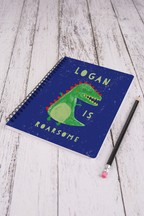 Personalised Dinosaur A5 Notepad by Loveabode