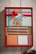 Fairisle Print Stationery Set
