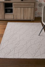 Carved Geo Grey Rug