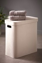 Soft Velour Slimline Laundry Hamper