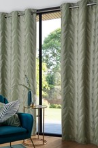 Linear Leaf Jacquard Curtains