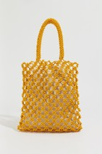Warehouse Yellow Beaded Shopper