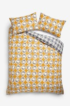 Retro Geo Duvet Cover and Pillowcase Set