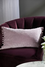Soft Velour Pom Edge Cushion