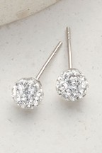 Diamanté Ball Stud Earrings