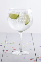 Personalised Gin Queen Balloon Glass by Loveabode