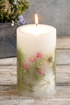 Rhubarb and Ginger Botanical Inclusion Candle