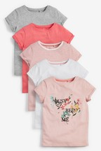 5 Pack Pretty Floral T-Shirts (3-16yrs)