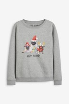 Women's Matching Family Pugmas Sweatshirt
