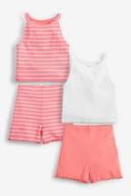 4 Pack Vest And Shorts Set (3-16yrs)