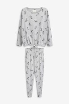 Cotton Tie Hem Pyjamas