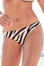 Reversible High Leg Bikini Briefs