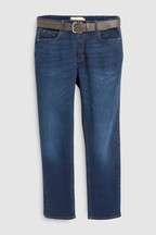 Belted Stretch Jeans