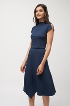 Cowl Neck Boxy Dress