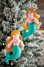 Set of 2 Mermaid Baubles