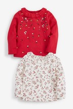2 Pack Floral Embroidered Blouses (3mths-7yrs)