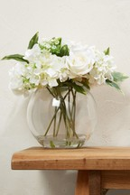 Artificial Floral In Glass Bowl