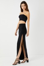 Boohoo Ruched Side Maxi Skirt