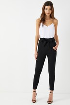 Boohoo Paperbag Waist Belted Trousers