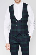 Twisted Tailor Ginger Check Suit Waistcoat