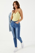 Missguided High Waist Abrasian Skinny Jeans