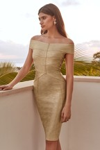 Lipsy Metallic Bardot Dress