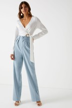 4th & Reckless High Waist Wide Leg Trousers